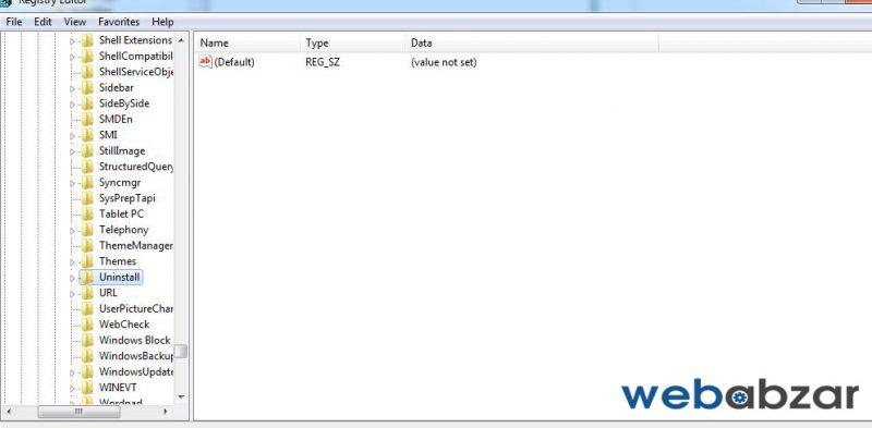 چگونگی uninstall برنامه های ویندوز