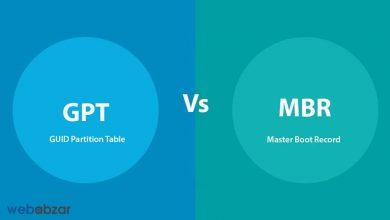 پارتیشن MBR و GPT